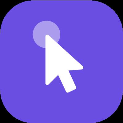 Arrow symbol with a small circle at its top