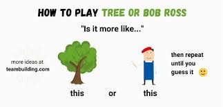 Tree or Bob Ross (Image: Teambuilding.com)