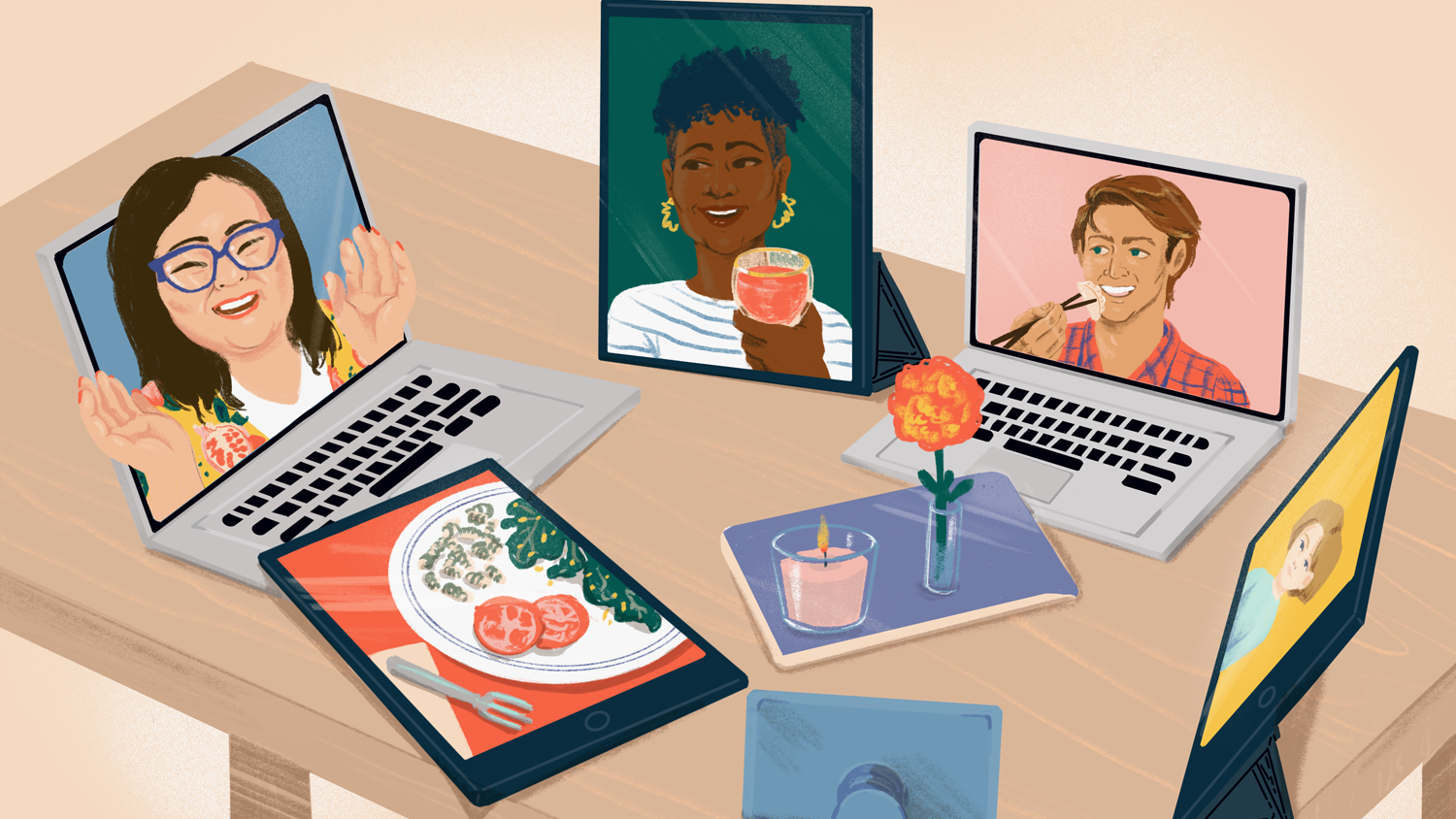 Virtual lunch or dinner dates (Image: The Spruce Eats)