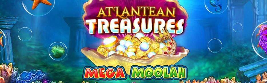 Atlantean Treasures Mega Moolah kolikkopeli - RTP 92,08 %