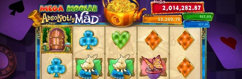 Pelaa Absolootly Mad Mega Moolah - palautusprosentti 92.02 %