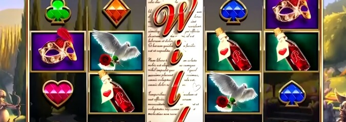 Romeo & Juliet – Sealed with a Kiss -kolikkopeli, RTP 95.20%