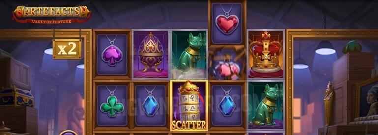 Artefacts – Vault of Fortune -kolikkopeli, RTP 96.2%, pelaa!