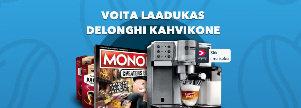 Voita De'Longhi-kahvikone SuperNopea Casinolla!