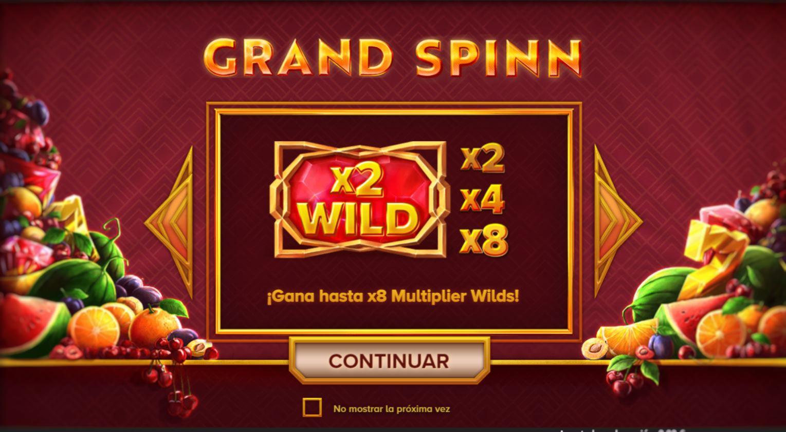 Grand Spinn -kolikkopeli wildit
