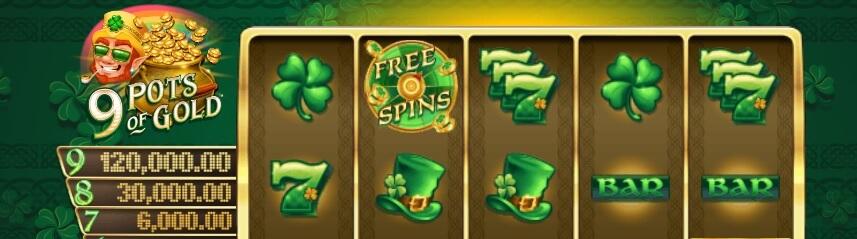 Sankoittain onnea ja kolikoita 9 Pots of Gold Slot -pelissä