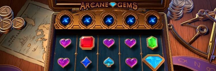 Pelaa Arcane Gems -kolikkopeli - RTP 96.05% - kerää kertoimet