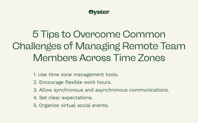5 tips to overcoming common challenges of managing remote team members across time zones