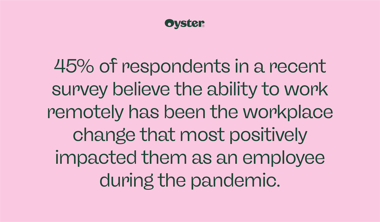 45% of respondents believe being able to work remotely has positively impacted them