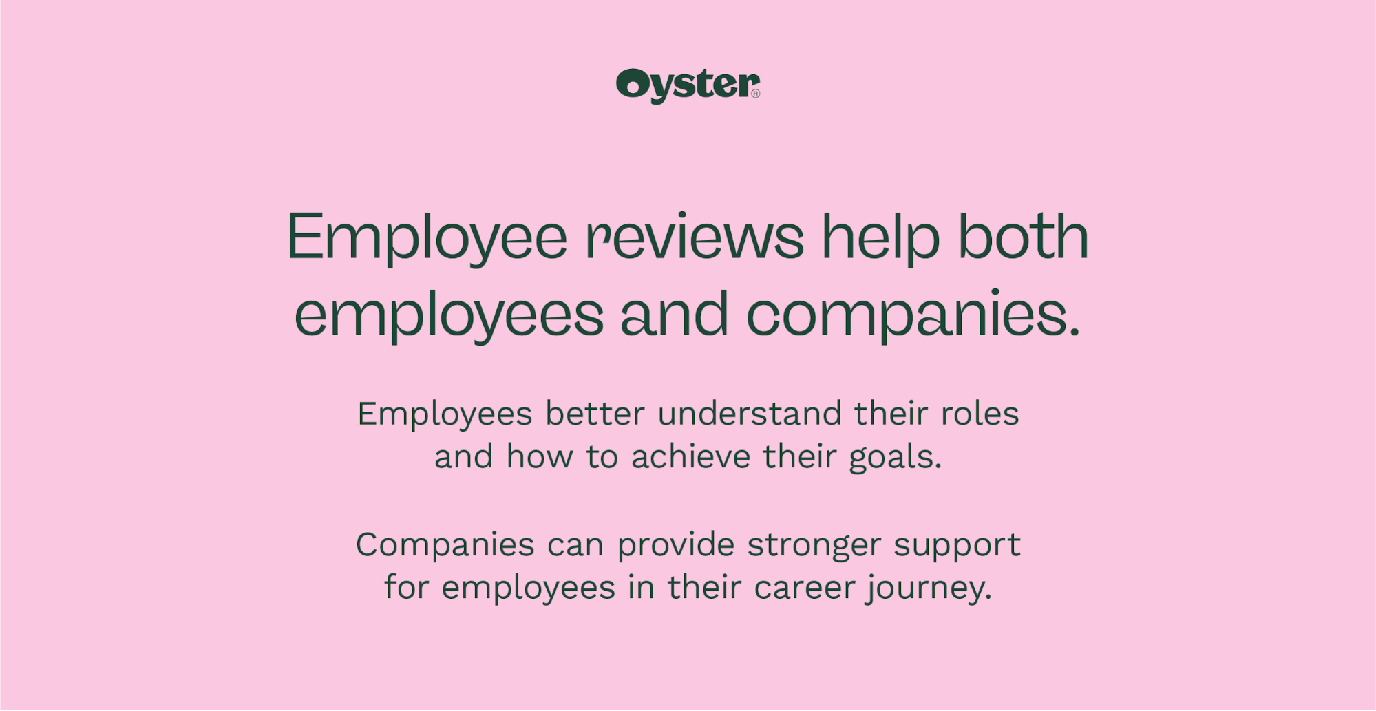 Graphic that says employee reviews help both employees and companies