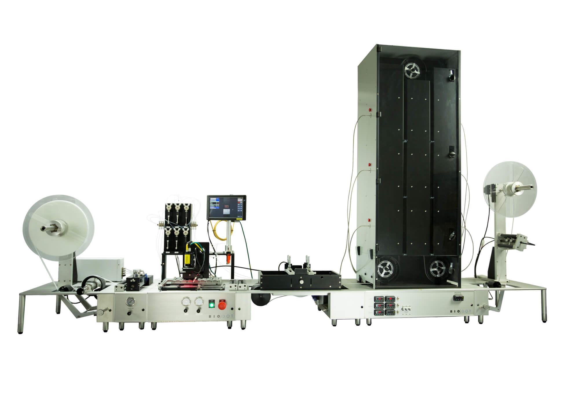 RR120 Web Handling Platform w/1 Dry Tower, 1 Dip Tank
