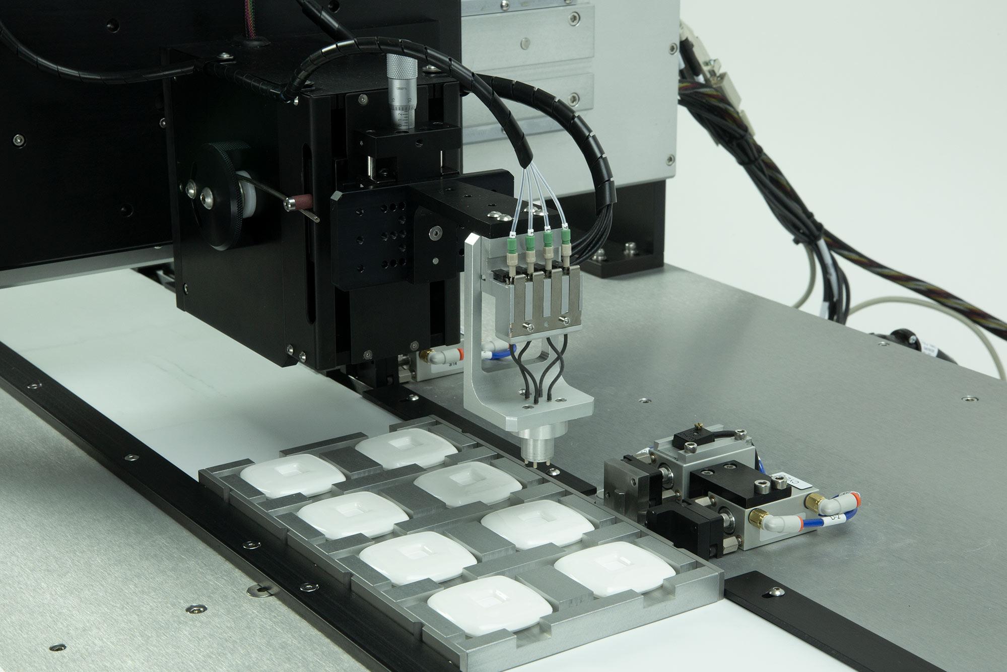 BioJet Dispensing for Flow Through Device