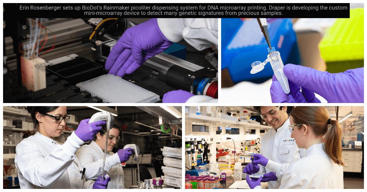 BioDot's Rainmaker technology used at Draper to develop custom miniaturized microarrays