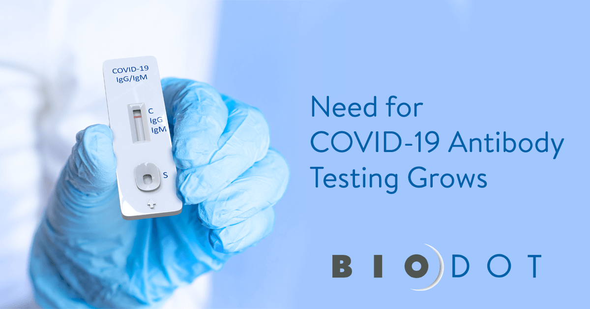 BioDot Accelerates Manufacturing to Help Customers Meet Global COVID-19 Testing Demand