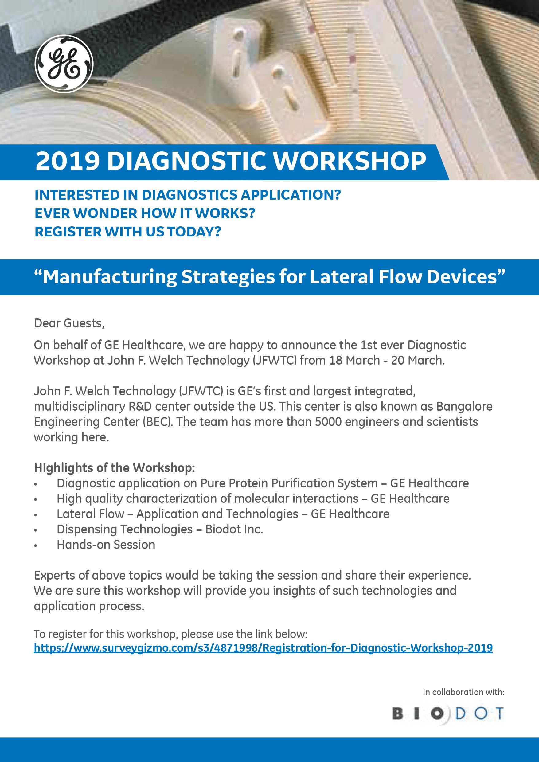 GE 2019 Diagnostic Workshop, India