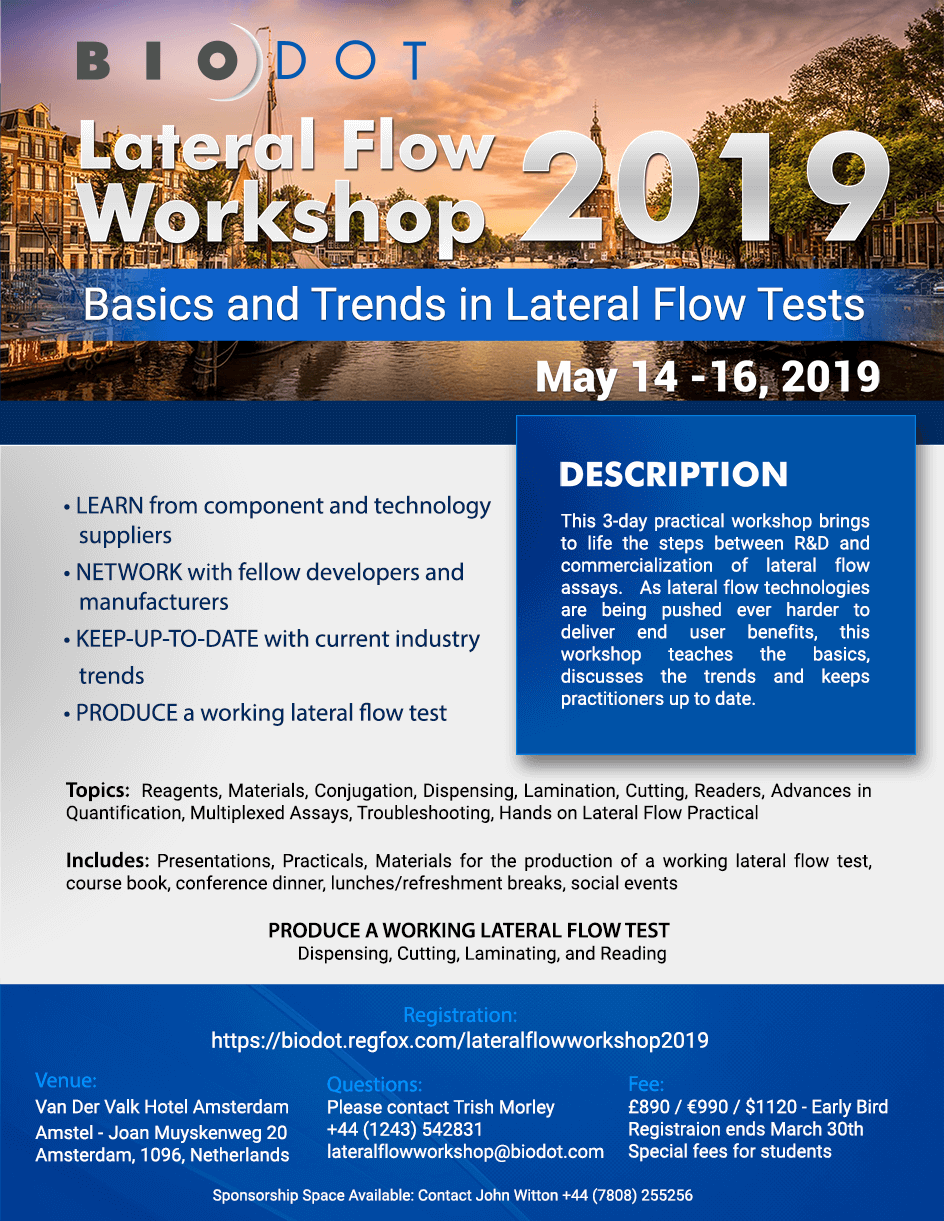 Lateral Flow Workshop, May 14-16, Amsterdam