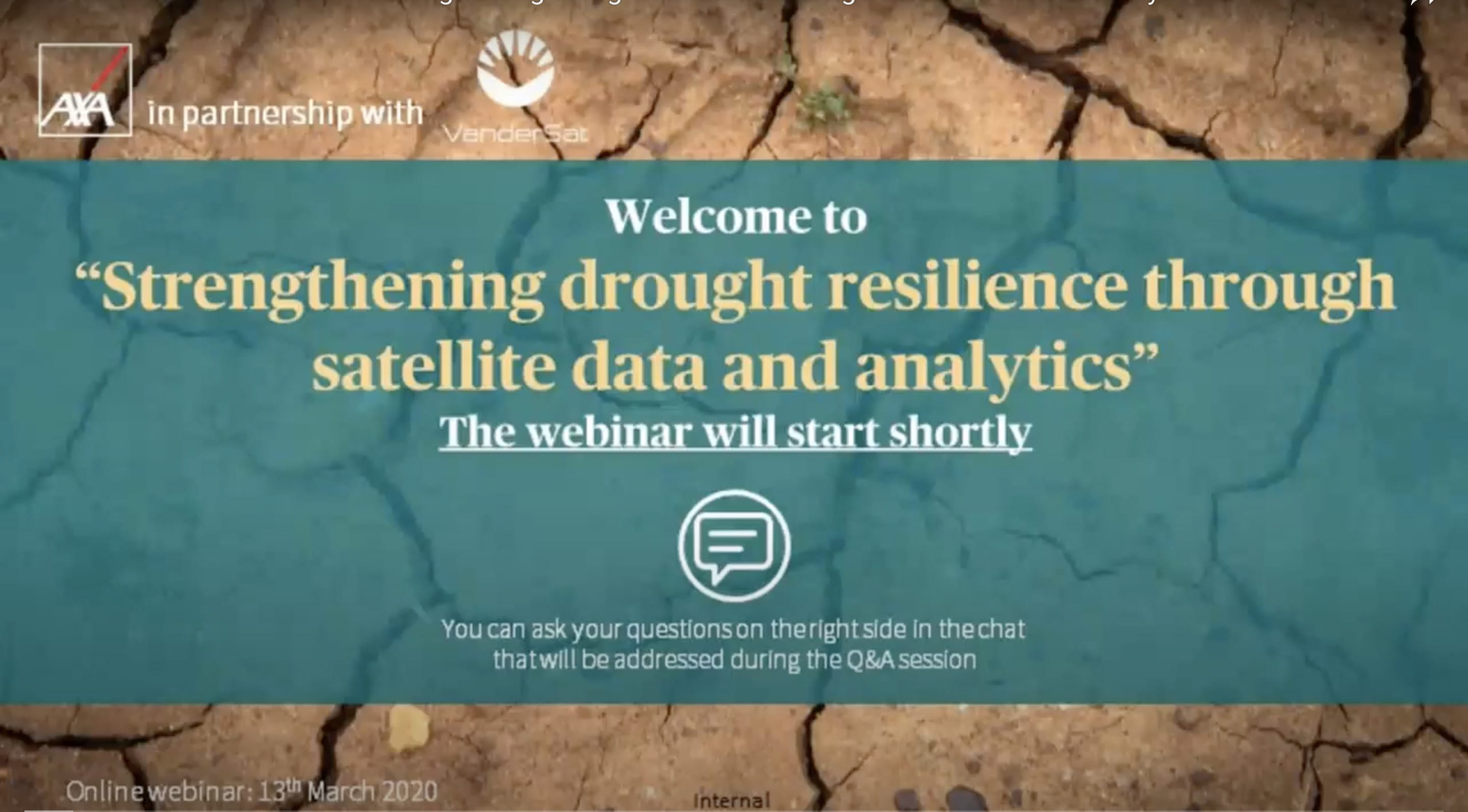 Strengthening drought resilience through satellite data and analytics
