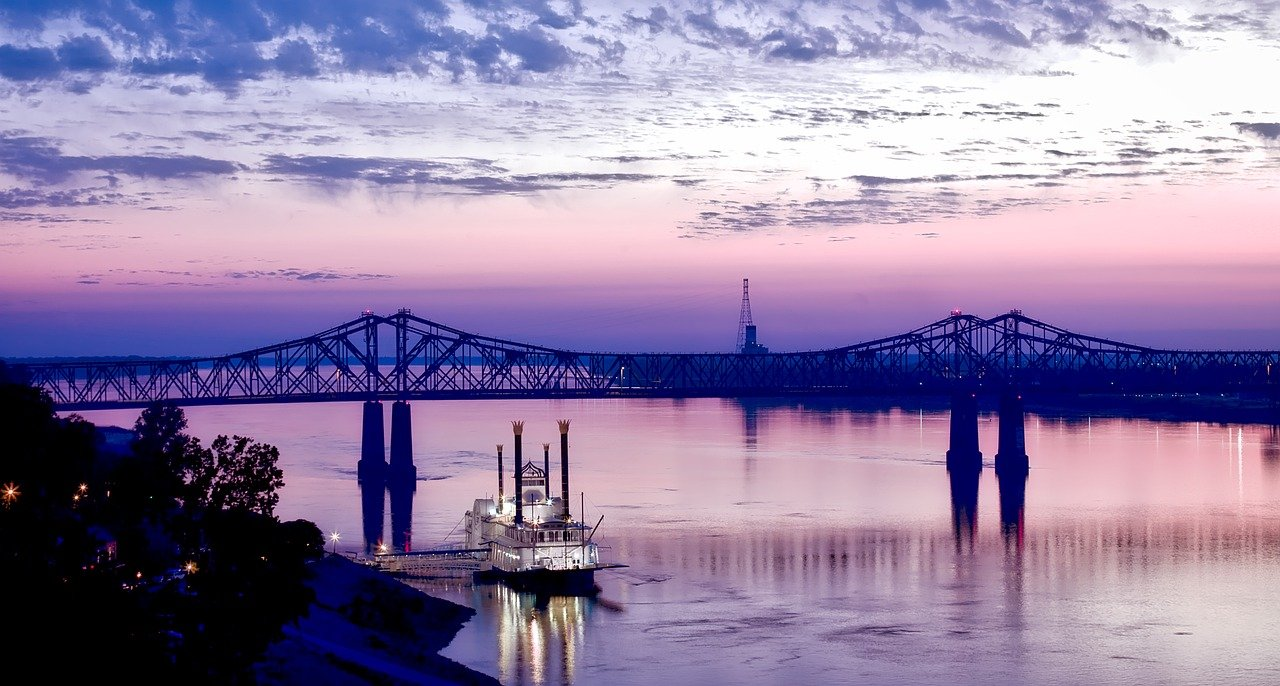 How does climate change affect inland waterway transport in the Mississippi river?