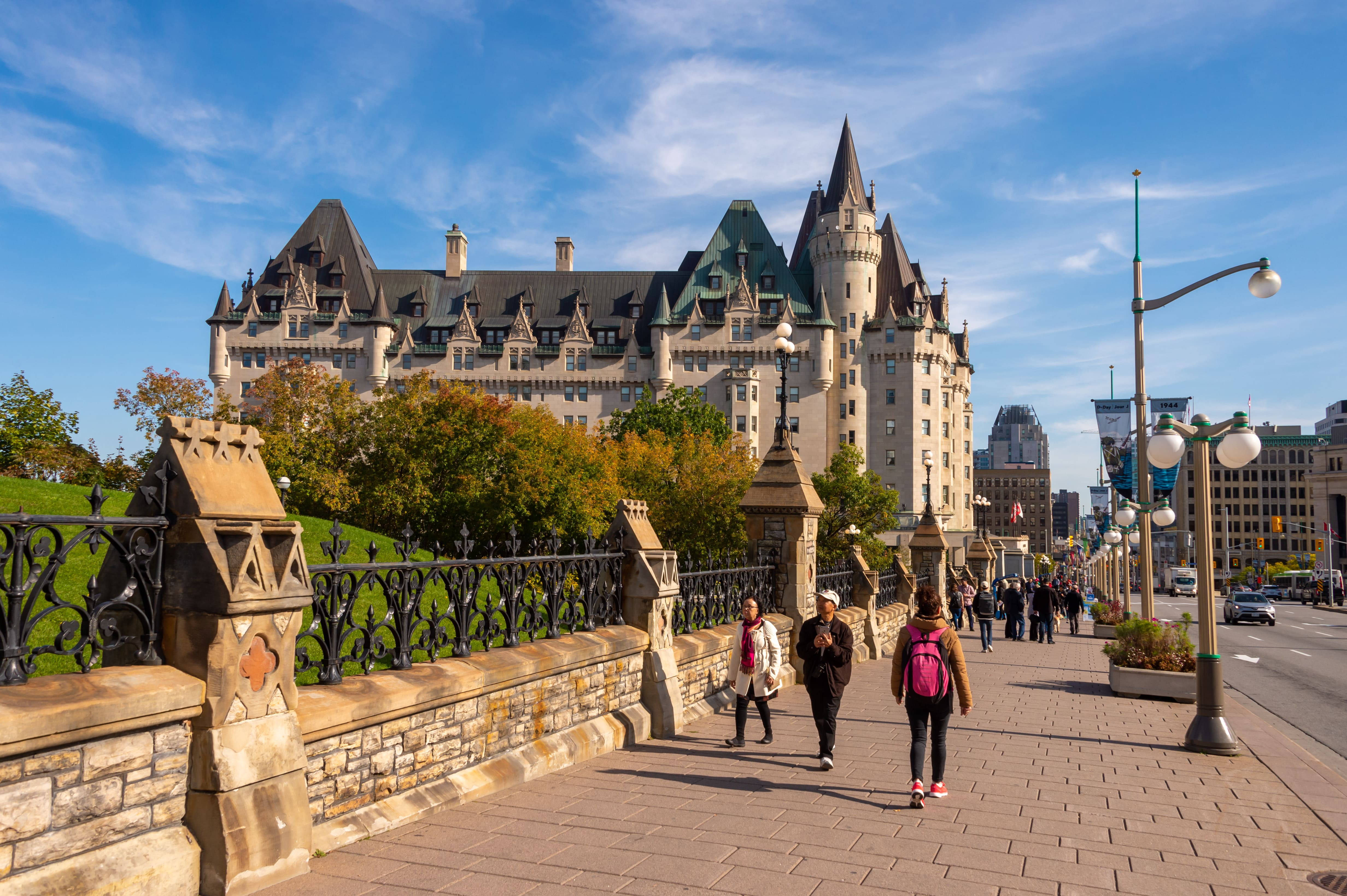 Exterior of Fairmont Chateau Laurier in Ottawa, ON