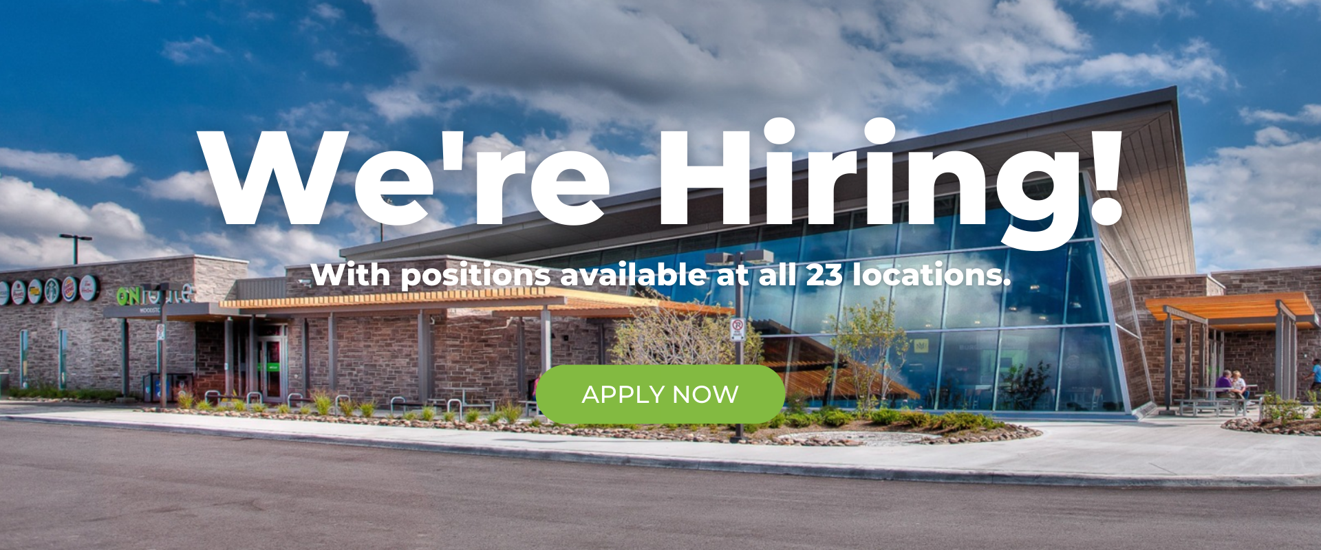 """An image banner which states """"we are hiring."""""""
