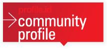 community profile button