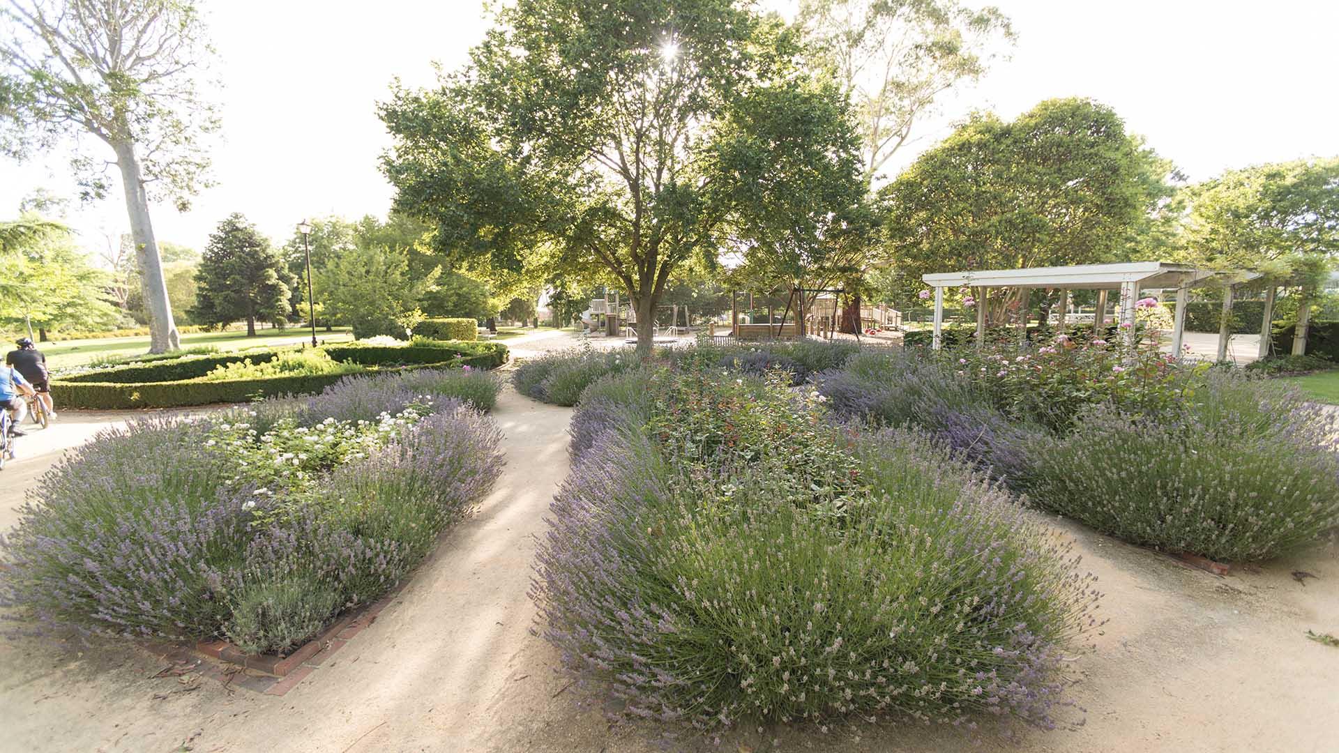 Sale Botanic Gardens sensory garden.