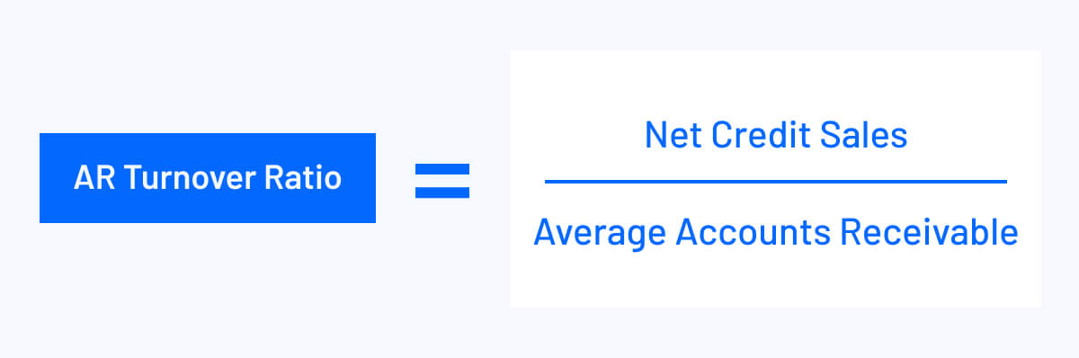 ar turnover ratio equals net credit sales divided by average accounts receivable
