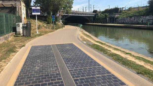 Bobigny inaugure la première piste cyclable solaire francilienne