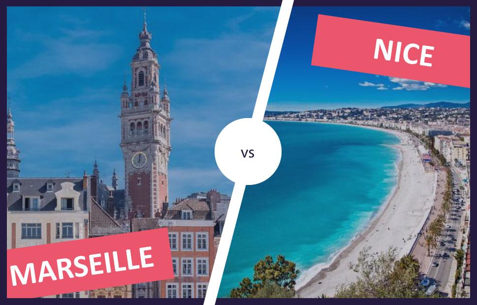 Le match immo Nice-Marseille : la quiétude niçoise ou la ferveur de la cité Phocéenne ?