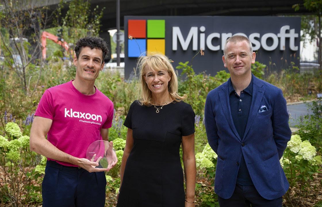 """Klaxoon lauréat du prix """"Partner of The Year 2020"""" de Microsoft"""