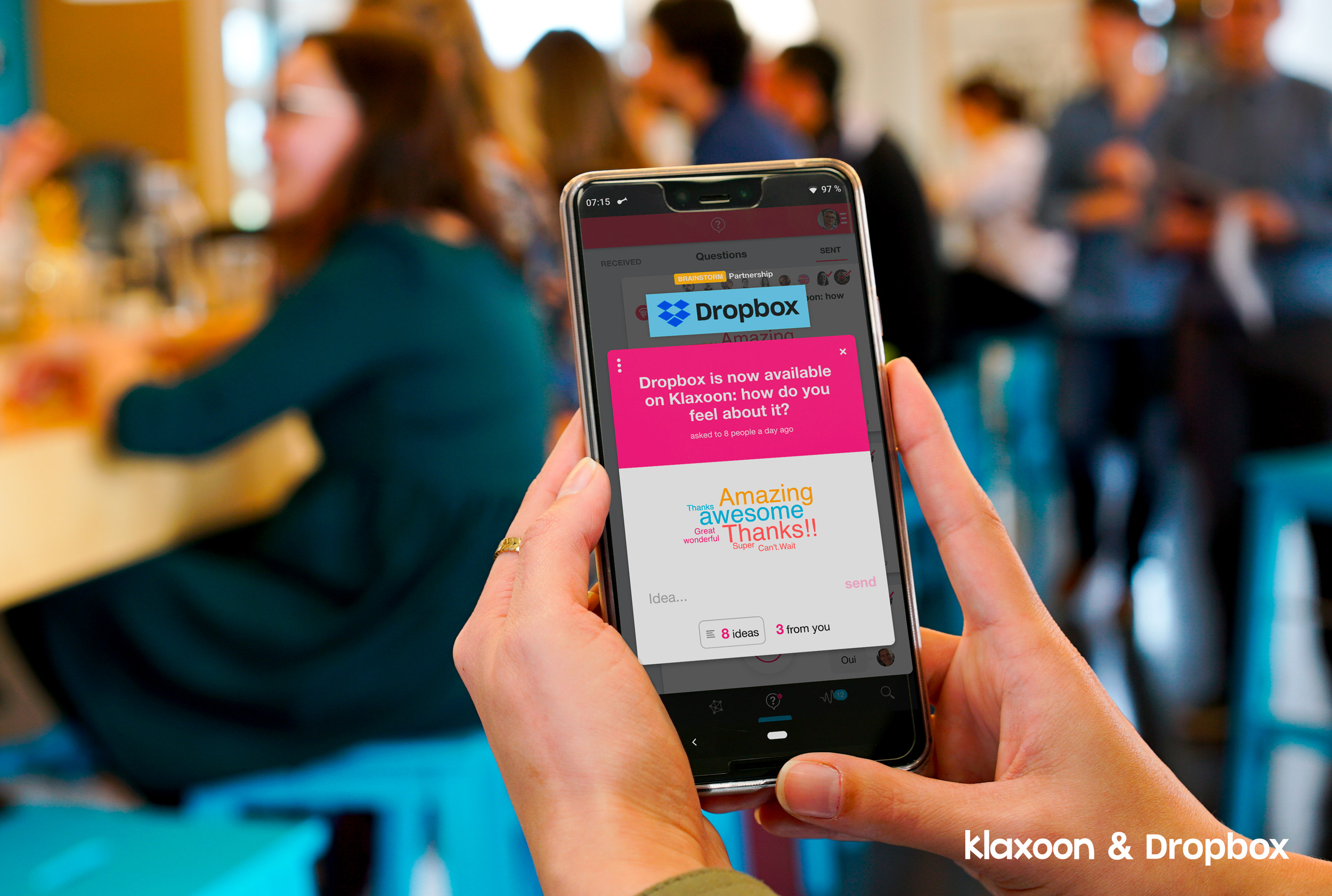 Klaxoon and Dropbox launch a new partnership