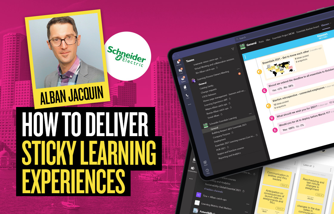 How Schneider Electric delivers sticky learning experiences with Klaxoon x MS Teams
