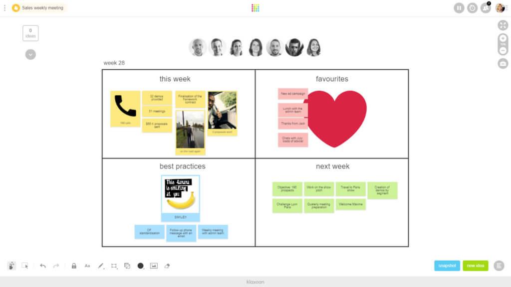 brainstorm weekly sales meeting