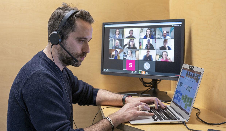 Brainstorming en ligne en télétravail