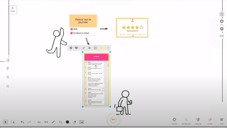 feedback question brainstorm rétrospective évaluation