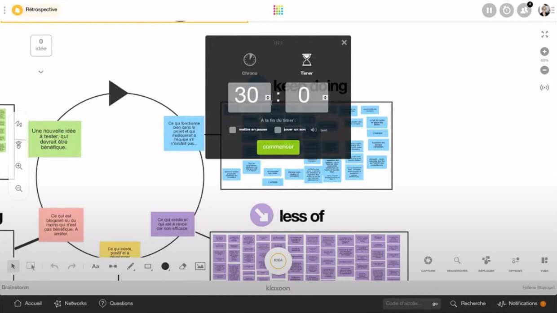 timer brainstorm klaxoon rétrospective atelier en ligne