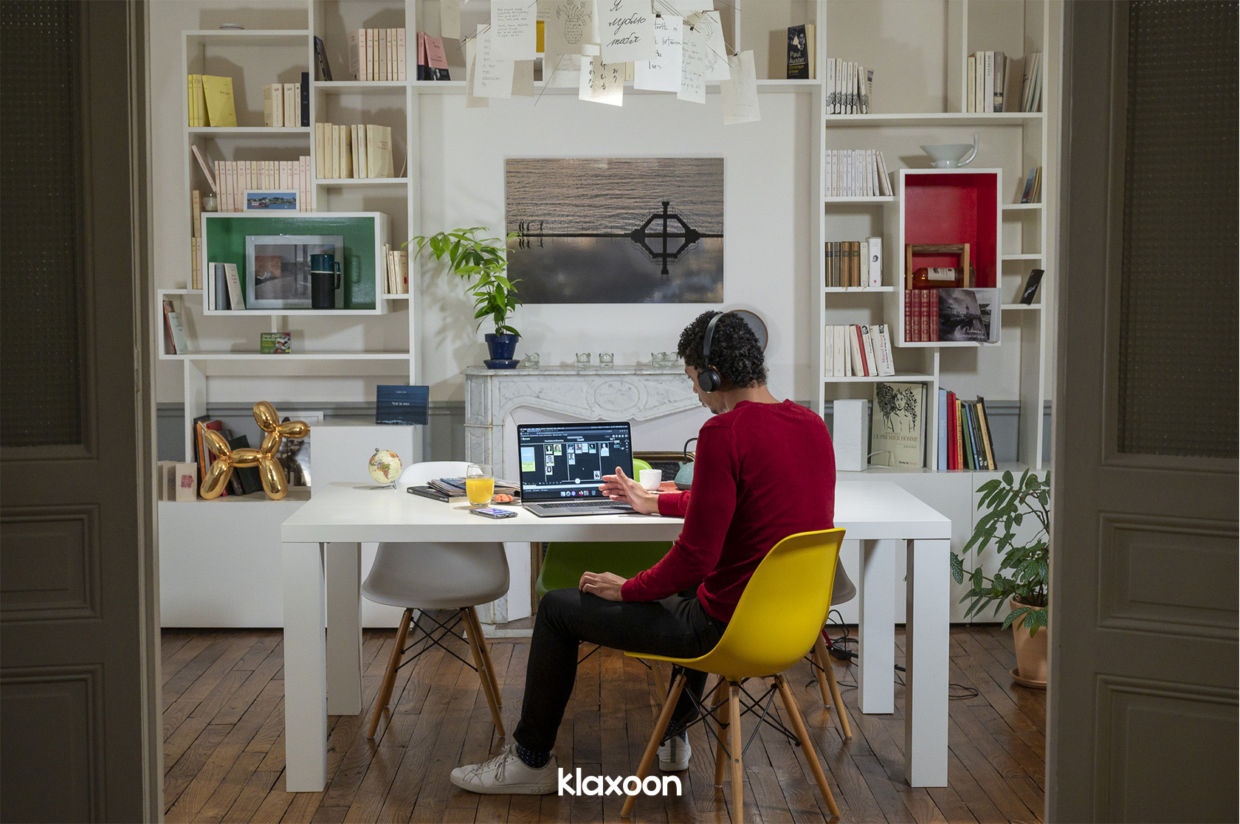 Online training with Klaxoon