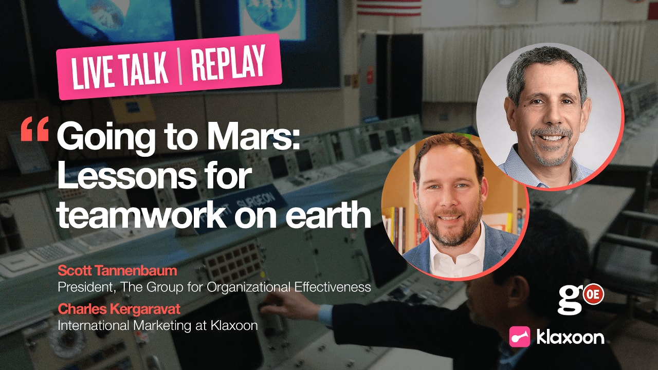 Going to Mars: Lessons for teamwork on earth