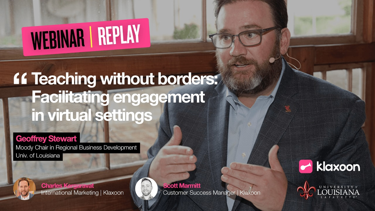 Teaching without borders: Facilitating engagement in virtual settings