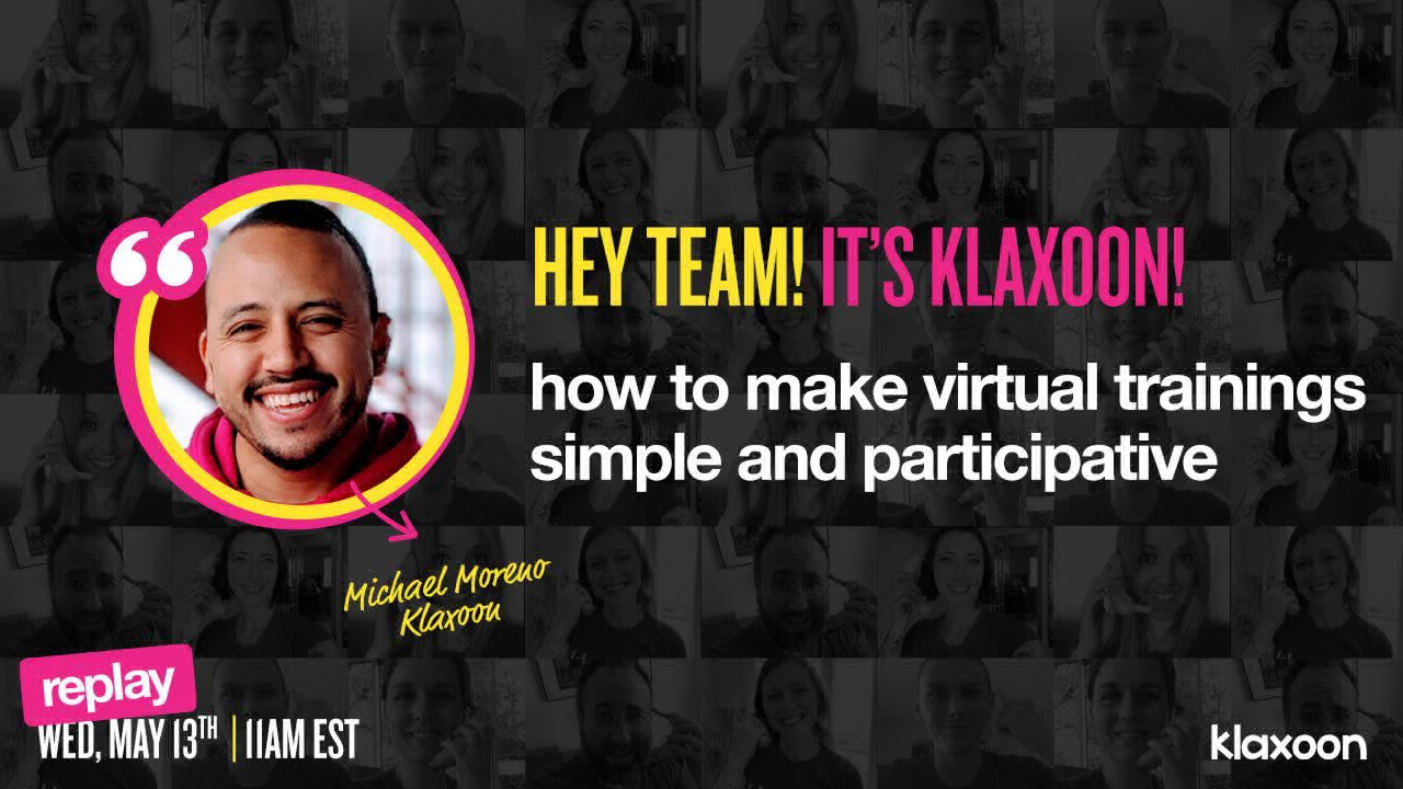 How to make virtual trainings simple and participative