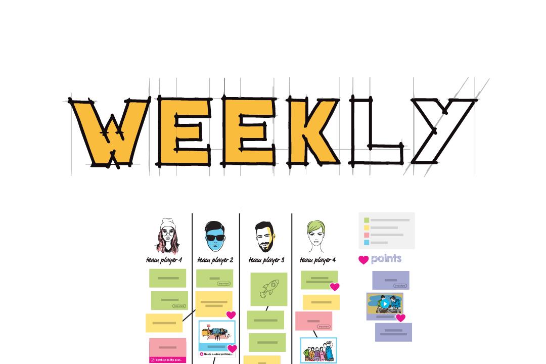 template weekly réunion d'équipe