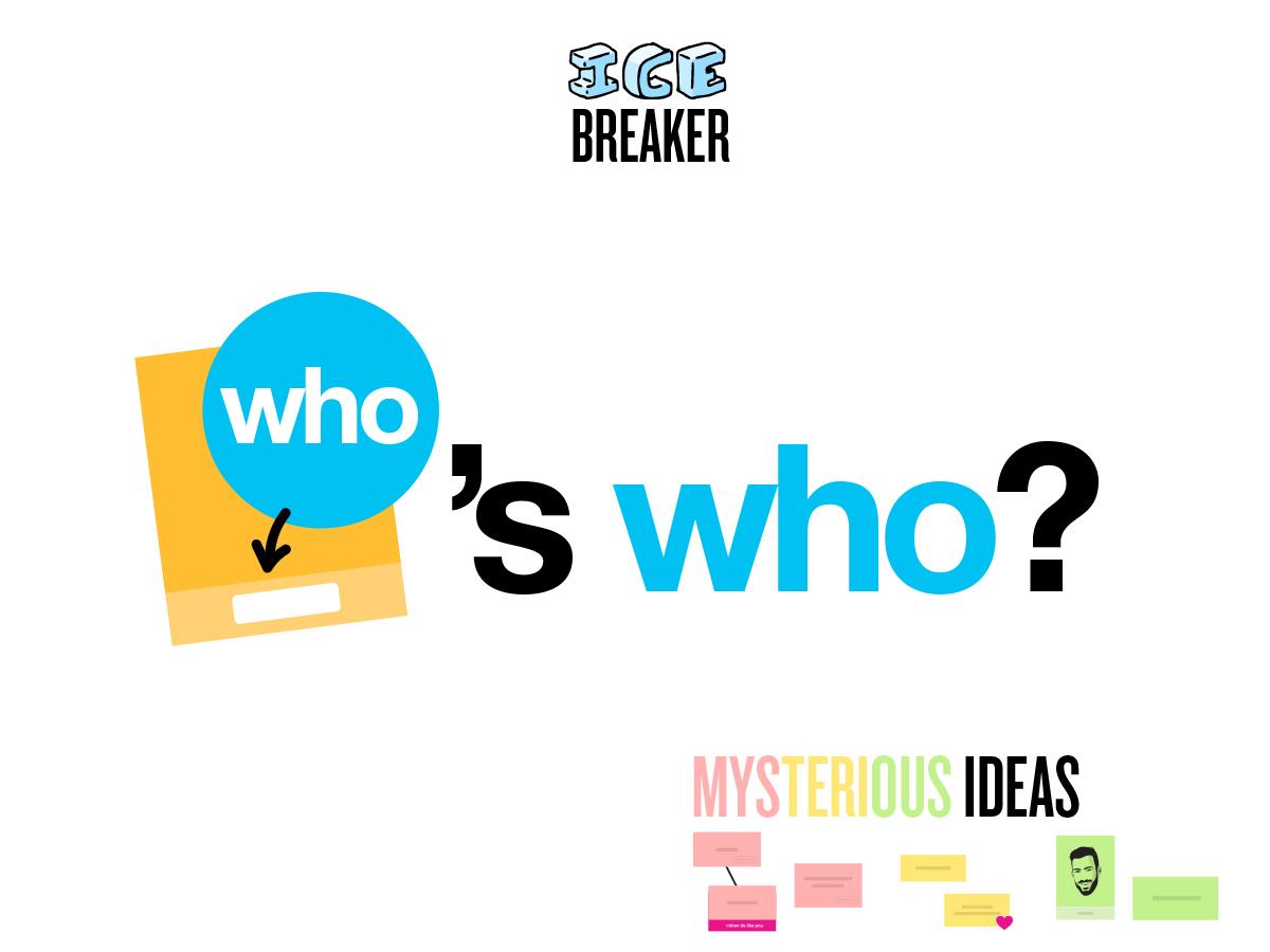 Who's who Template Icebreaker on Klaxoon