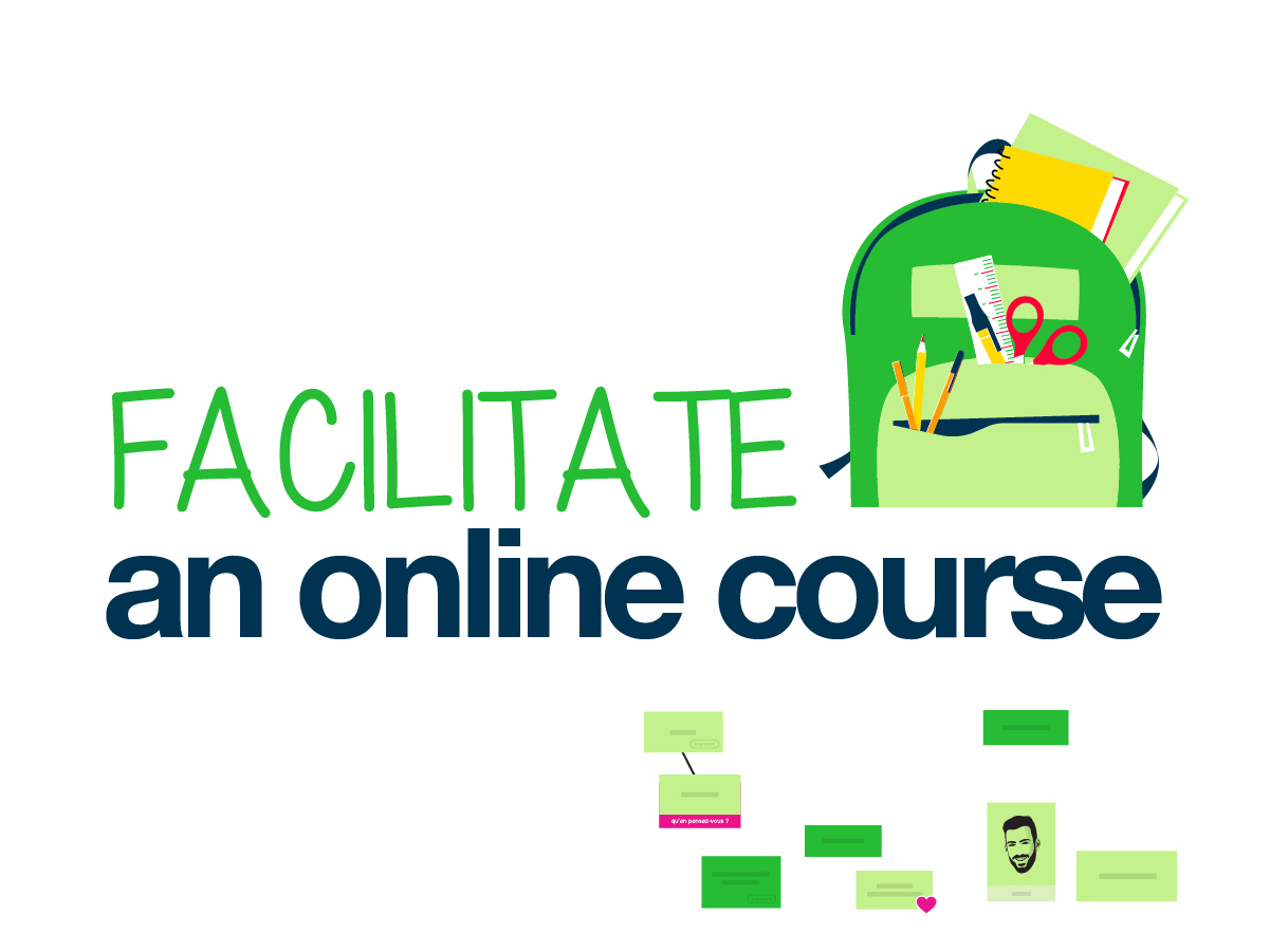 Facilitate an online course template on Klaxoon