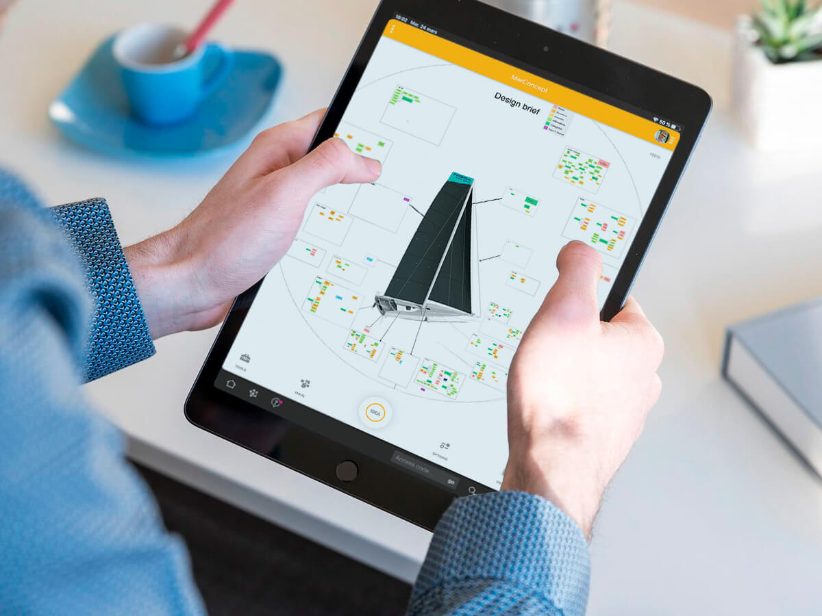 visual management on tablet