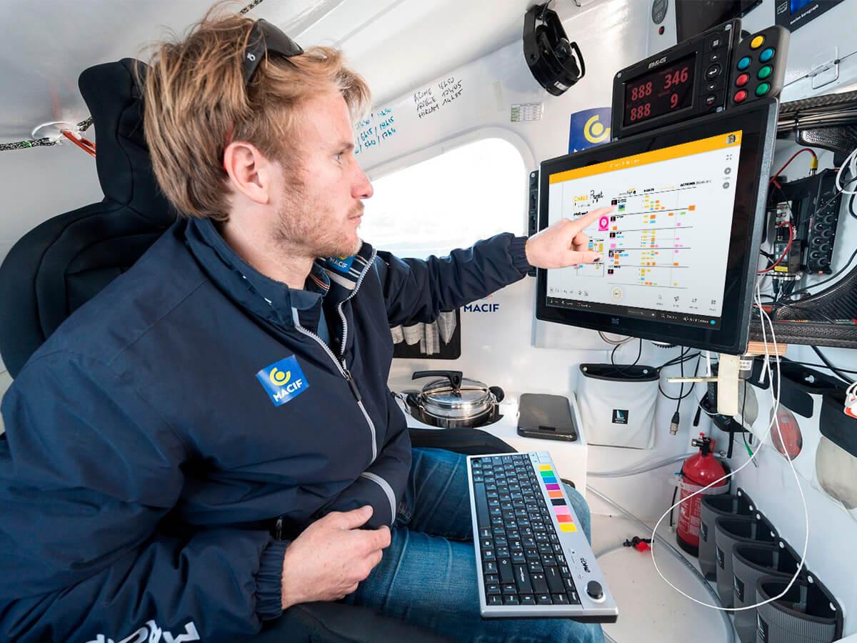 François Gabart & Klaxoon on board