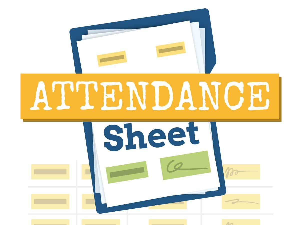 Attendance sheet template with Klaxoon