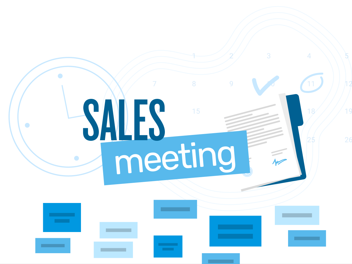 Sales meeting template with Klaxoon