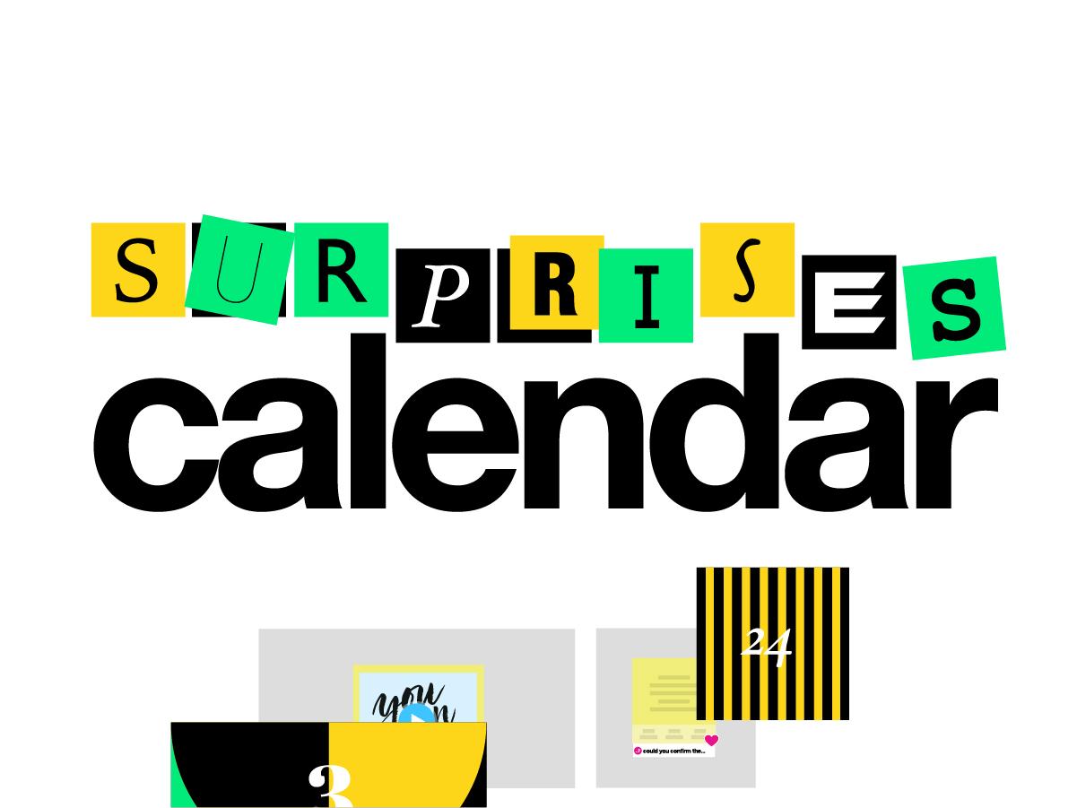 advent calendar template online