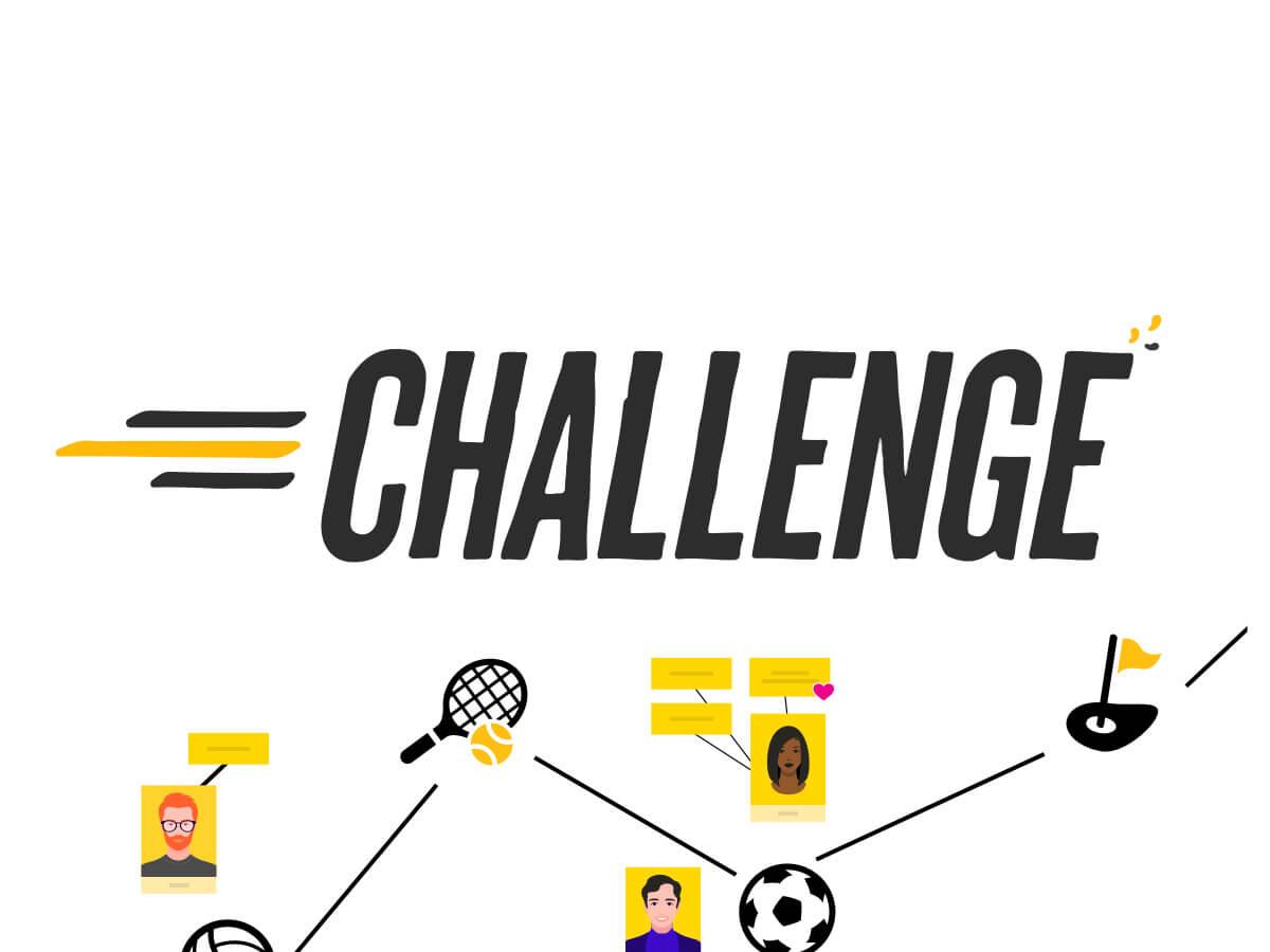 Challenge d'équipe template en ligne Klaxoon