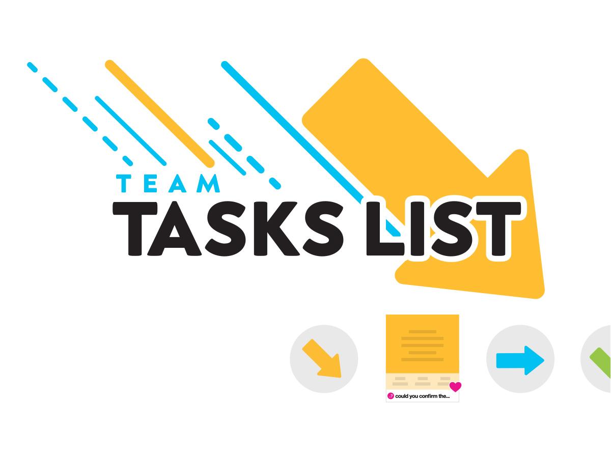 Team tasks list free online template